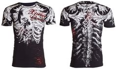 Xtreme Couture AFFLICTION Men T-Shirt PERSIMMON Skull Tattoo Biker UFC M-4XL $40 #Affliction #GraphicTee