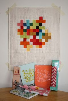 Love this minimalist version of a cross quilt - DQS9 from lizzy house | Flickr - Photo Sharing!