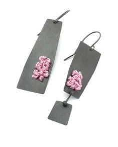 Lauren Markley Asymmetrical Geometric Post Dangles – Mora Designer Jewelry