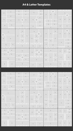 This says A4 and Letter templates but you could probably figure out how to do similar layouts in different sizes.