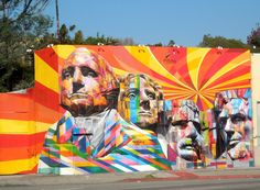 """Mount Rushmore Mural"" by Eduardo Kobra"