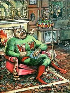 Wonder Wart-Hog by Gilbert Shelton. The Hog of a Steel, battling injustice and an especially wimpy secret identity.