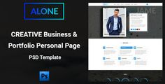 Alone - Creative Business & Portfolio Personal Page PSD Template - PSD Templates Download here : https://themeforest.net/item/alone-creative-business-portfolio-personal-page-psd-template/19569914?s_rank=183&ref=Al-fatih