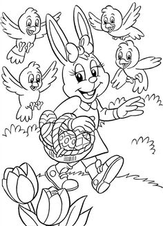 Adult coloring pages: easter coloring pages Easter Coloring Pictures, Easter Bunny Pictures, Easter Bunny Colouring, Easter Egg Coloring Pages, Cartoon Coloring Pages, Coloring Book Pages, Printable Coloring Pages, Coloring Pages For Kids, Colorful Drawings