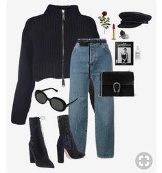(Vegan version of outfit if not already vegan) Look Fashion, Korean Fashion, Autumn Fashion, Trendy Outfits, Winter Outfits, Cute Outfits, Fashion Outfits, Womens Fashion, All About Fashion