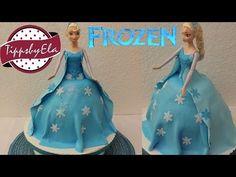 Elsa die Eiskönigin Torte Fondant selber machen Anleitung Deutsch - YouTube