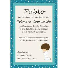 Invitaciones Comunión Niño - Partty