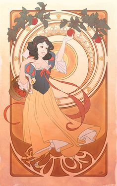Seven Deadly Sins. Disney Princess + art nouveau = yes.