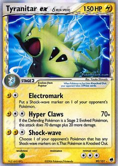 Pokemon EX Cards | Pokemon Card of the Day: Tyranitar ex (EX Dragon Frontiers ...