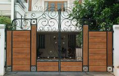 Transitional Wood Gate Designs Photos