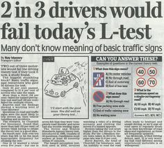 The Daily Mail features research by RED and Churchill Car Insurance that shows 2 in 3 drivers would fail their #theorytest if they took it now http://tiny.cc/rhcbpx