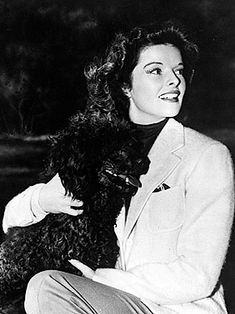 Famous people (Katherine Hepburn) + Dogs