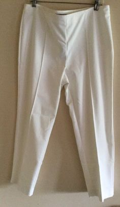 New with tags, St. John Marie Cream Side Zip Classic Pants, Size 14 $395    eBay