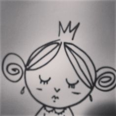 bengigencer's photo on Instagram  #illustration #cute #cutie #princess #unhappy #portrait #bengigencer #doodle #queen