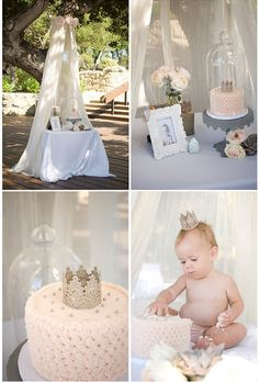 Very beautiful party, love the cake smash pic.