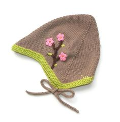 Baby girl hat spring hand knitted toddler hat pastel by Tuttolv, $20.00