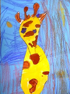 Giraffe for Kindergarten Art Show