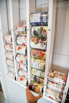 We have a good sized pantry with deep shelves, but the can food situation never was quite right. We have ample shelving space - it was more keeping the cans organized AND visible, but not having to g