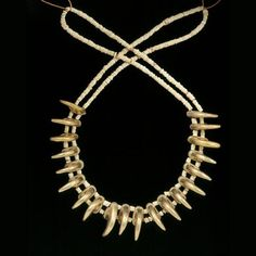 British Museum: neckace w/ claw-shaped beads in upcoming exhibition
