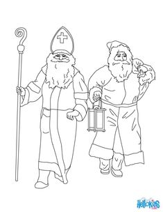 Warm up your imagination and color nicely this Santa Claus & Saint Nicholas coloring page from CHRISTMAS TRADITIONS IN GERMANY. Description from hellokids.com. I searched for this on bing.com/images