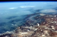 Twitter / Cmdr_Hadfield: Tonight's finale: The Andes mountains blur to the horizon in a cold Pacific fog.  taken from the international space station.