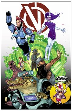 """3 los Vindicators """"Rick y Morty"""" imprimir por el artista Tom Hodges"""