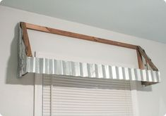 How to make your own rustic farmhouse window awnings. These beautiful farmhouse window treatments look great in any room and are very inexpensive to make. Farmhouse Window Treatments, Farmhouse Windows, Decor, Farmhouse Kitchen Decor, Kitchen Window Coverings, Interior, Window Awnings, Home Decor, Metal Awnings For Windows
