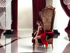 The Regal Armchair Throne by Italian furniture company Caspani Gold Furniture, Unique Furniture, Luxury Furniture, Furniture Design, Italian Furniture Stores, Burgundy Room, Modern Upholstery Fabric, Throne Chair, Lounge