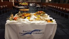 An excellent appetizer display a business networking event.
