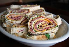 Hye Rollers, These are wonderful sandwich wraps filled with roast beef and cheddar with a great horseradish cream cheese spread!!!  #Sandwich