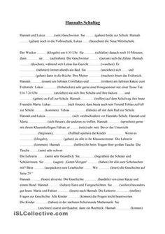 Lückentext zur Verbkonjugation in der Gegenwart und zum Leseverständnis. Nach jedem Absatz habe ich Fragen zum Verständnis gestellt. Auch sind weitere anhängen Übungsblätter oder Konjugation in anderen Zeiten denkbar. - DaF Arbeitsblätter
