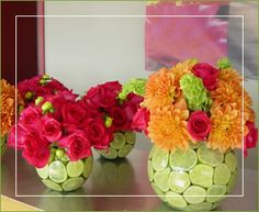 Limes and bright colors make for an interesting centrepiece - adventurefoodz Mexican Birthday Parties, Mexican Fiesta Party, Fiesta Theme Party, Party Themes, Party Ideas, Wedding Centerpieces, Wedding Decorations, Mexican Bridal Showers, Fiesta Baby Shower