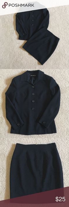 Tahiti 2 Piece Suit with Skirt Excellent Condition 100% Polyester Tahari Jackets & Coats Blazers