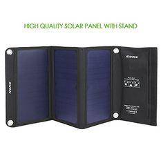 SNAN Cargador de Solar Plegable, 21W con 2 Puertos USB para Cargar Teléfonos Inteligentes Samsung Galaxy S6, Note 5, iPhone 6, iPhone 6s, iPad, LG G3, HTC , etc Color Negro - http://cargadorespara.com/comprar/solares/snan-cargador-de-solar-plegable-21w-con-2-puertos-usb-para-cargar-telefonos-inteligentes-samsung-galaxy-s6-note-5-iphone-6-iphone-6s-ipad-lg-g3-htc-etc-color-negro/