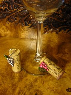 Wine Cork Charms Ornaments