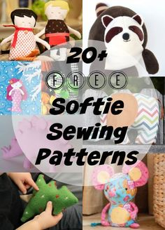 More than 30 free patterns for plushies