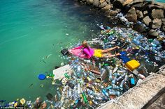 Plastic pollution: Alison lies on her surfboard as she navigates plastic waste that has washed up around the islands in the Maldives Ocean Pollution, Plastic Pollution, Salve A Terra, Mundo Cruel, Save Our Earth, Save Our Oceans, Plastic Waste, Environmental Art, Our Planet