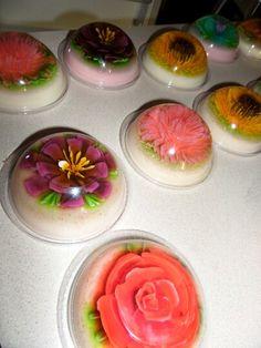 Gelatinas florales mini