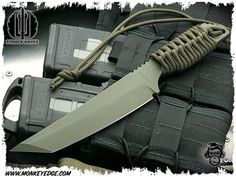 Monkey Edge - Strider Knives Fixed: DL Cord Wrapped Pretty Knives, Cool Knives, Knives And Swords, Tactical Knives, Tactical Gear, Bushcraft, Outdoor Survival Gear, Camping Survival, Strider Knives