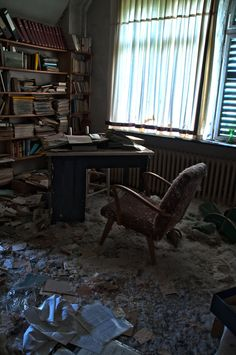 The sad side of abandoned places. This office is in an old doctors house in Germany known as Dr Anna L. It got ransacke.