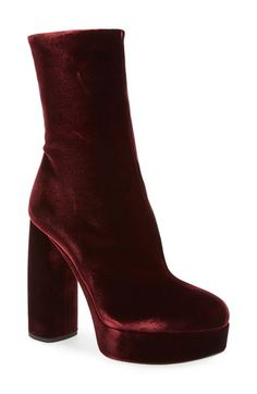 100864d3048 Free shipping and returns on Miu Miu Platform Block Heel Boot (Women) at  Nordstrom