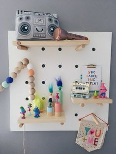 Pegboard Display with Shelves shelf display pegboard Pegboard Display, Shelf Display, Command Strips, Shelfie, Kids Decor, Decoration, Floating Shelves, Playroom, Nursery Decor