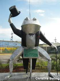 Frog Statue - Frog Capital of the World in Rayne, Louisiana: