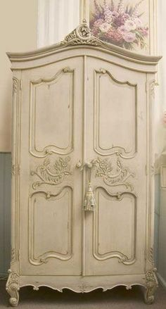 French armoire, I have this EXACT armoire with the C on top for our last name oh for the courage to do this!!!!!!