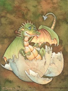Fairy and fantasy art images, fairy pictures & drawings, flower and butterfly illustrations from Fairies World. Fairies World, Fairy & Fantasy Art Gallery - James Browne/Duncan© Magical Creatures, Fantasy Creatures, Impression Offset, Dragon Egg, Pet Dragon, Dragon Pictures, Cute Dragons, Sword And Sorcery, Faeries
