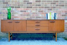 Vintage 'avalon' Danish Style Teak Long Sideboard. Delivery. Modern / Midcentury photo 1
