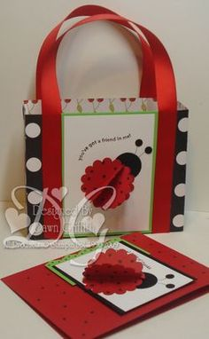 Lady bug box with matching card