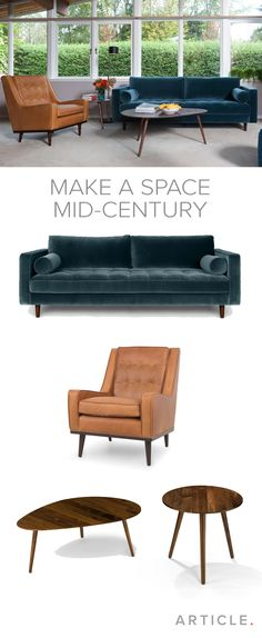 How to create a mid-century modern space with our articles.