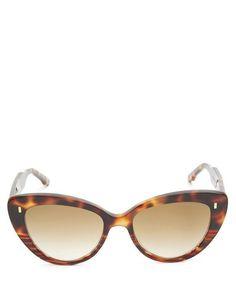 Cutler And Gross Cat-eye Acetate Sunglasses In Turtle Sunglasses Accessories, Women Accessories, Tortoise Shell Sunglasses, Cat Eye Sunglasses, Cutler And Gross, Cat Eye Frames, World Of Fashion, Vintage Designs