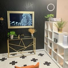 Designed by @lifewithleeks Black And White Living Room Decor, Black Decor, White Decor, Black Wallpaper, Peel And Stick Wallpaper, Black Walls, Living Room Inspiration, Black House, Accent Decor